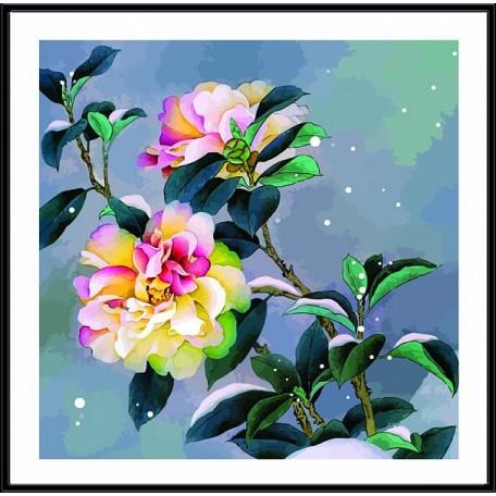 Набор 'Колор Кит' картина по номерам арт.КК.CD010 Снежный пион 30х30