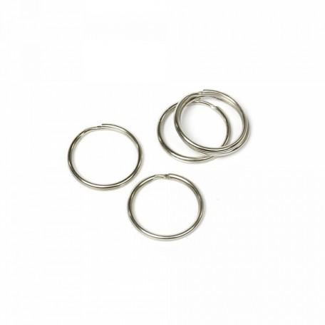 Кольцо металлическое двойное D-22мм уп. 100 шт. А