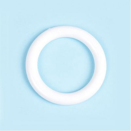 Кольцо пластик D=34 цв.белый уп. 50 шт. А