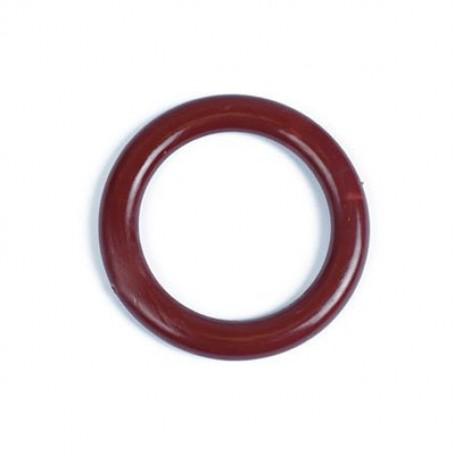 Кольцо пластик D=34 цв.кр.коричневый уп. 50 шт. А