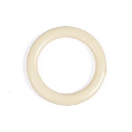 Кольцо пластик D=34 цв.сл.кость уп. 50 шт. А