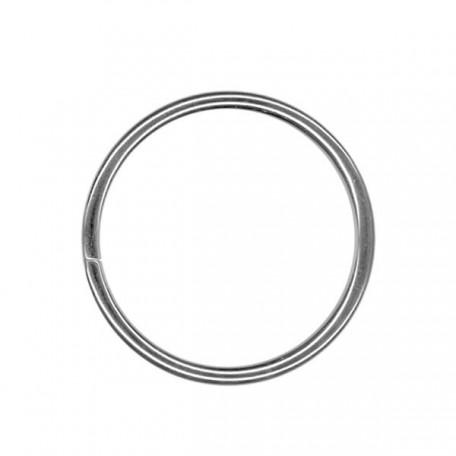 Кольцо металлическое арт.TSW 30мм (Тпр-3мм) цв.никель фас.100шт
