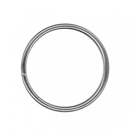 Кольцо металлическое арт.TSW 35мм (Тпр-3мм) цв.никель фас.100шт