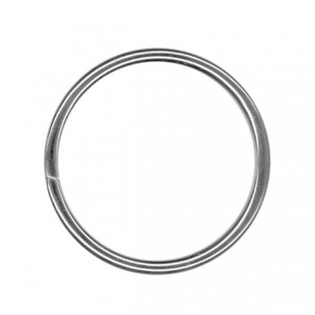 Кольцо металлическое арт.TSW 40мм (Тпр-4мм) цв.никель фас.100шт