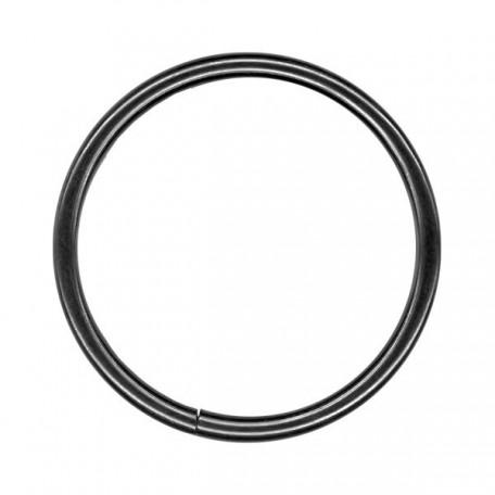 Кольцо металлическое арт.TSW 50мм (Тпр-3мм) цв.черный никель фас.100шт
