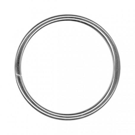 Кольцо металлическое арт.TSW 50мм (Тпр-3мм) цв.никель фас.100шт