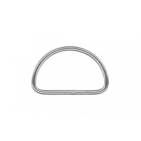 Полукольцо металлическое арт.TSW 10мм (Тпр-1,6мм) цв.никель фас.2000шт