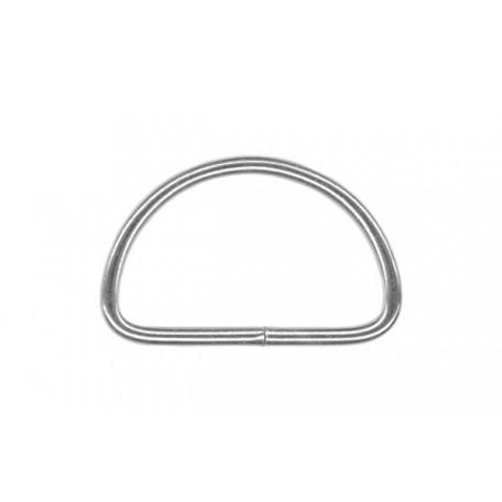 Полукольцо металлическое арт.TSW 15мм (Тпр-2.2мм) цв.никель фас.500шт