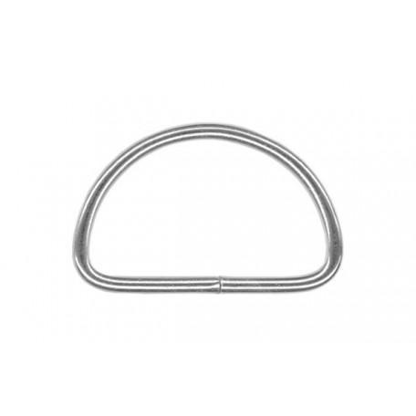 Полукольцо металлическое арт.TSW 20мм (Тпр-2мм) цв.никель фас.1000шт