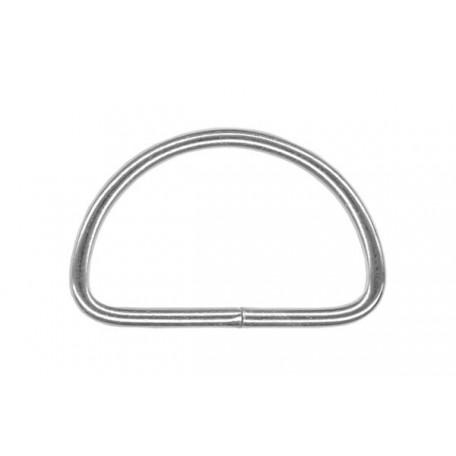 Полукольцо металлическое арт.TSW 25мм (Тпр-2,3мм) цв.никель фас.500шт