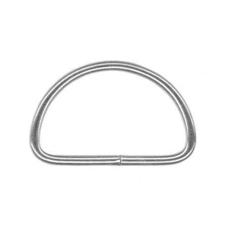 Полукольцо металлическое арт.TSW 30мм (Тпр-2,3мм) цв.никель фас.1000шт