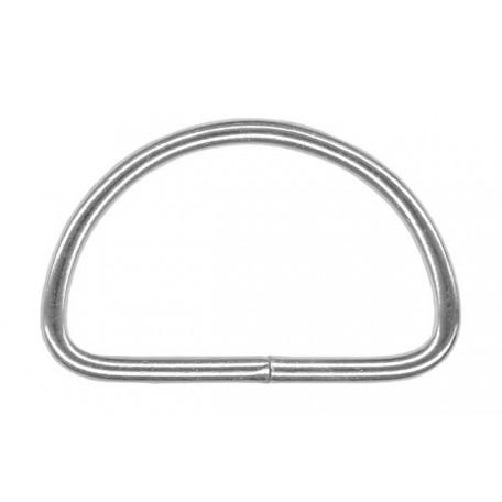 Полукольцо металлическое арт.TSW 40мм (Тпр-2,5мм) цв.никель фас.1000шт