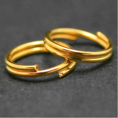 Колечки Двойные металл арт. МБ.БА341 цв.золото 8х0,8 мм 50г/около 340 шт.