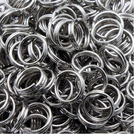 Колечки Двойные металл арт. МБ.УТ2991 цв.платина 7х0,7 мм 50г/около 380 шт.