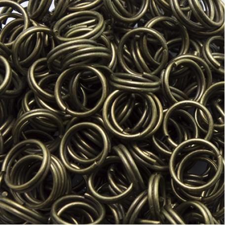 Колечки Двойные металл арт. МБ.УТ3139 цв.бронза 7х0,7 мм 50г/около 380 шт.
