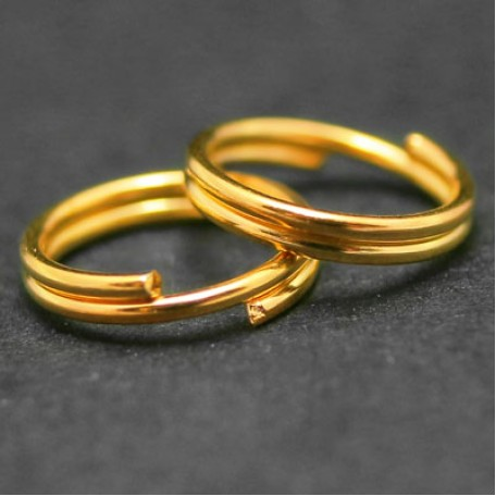 Колечки Двойные металл арт. МБ.УТ4352 цв.золото 6х0,7 мм 50г/около 390 шт.