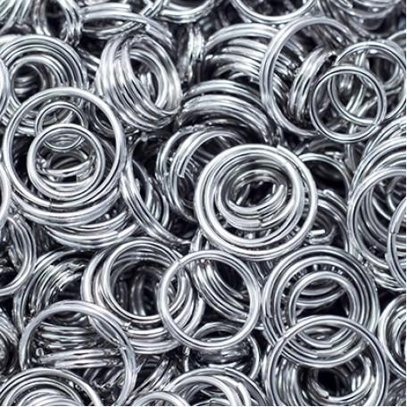 Колечки Двойные металл арт. МБ.УТ5751 цв.платина от 4 до 10х0,8 мм 50г/около 530 шт.