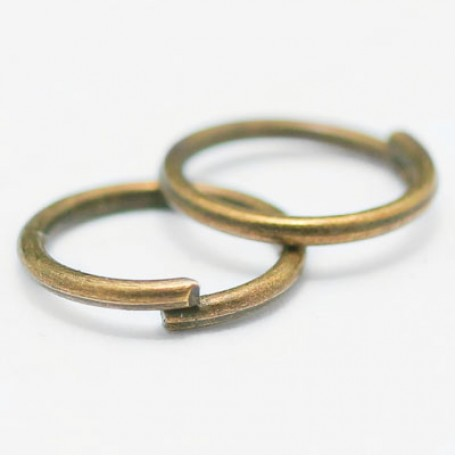 Колечки Одинарные металл арт. МБ.БА602 цв.бронза 7х0,7 мм 50г/около 750 шт.