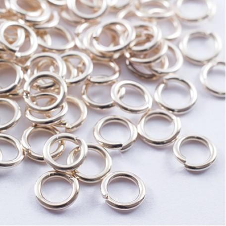 Колечки Одинарные металл арт. МБ.УТ27766 цв.золото 6х1 мм 25г/около 900 шт.