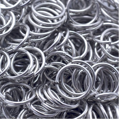 Колечки Одинарные металл арт. МБ.УТ5506 цв.платина 8х0,7 мм 50г/около 500 шт.