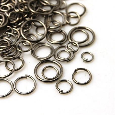 Колечки Одинарные металл арт. МБ.УТ5753 цв.черный от 4 до 10х0,7 мм 50г/около 600 шт.