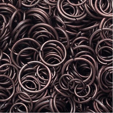 Колечки Одинарные металл арт. МБ.УТ5755 цв.медь от 4 до 10х0,7 мм 50г/около 600 шт.