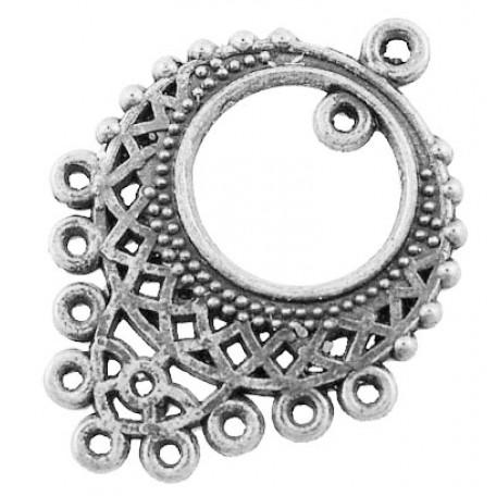 Коннектор металл арт. МБ.БА539 цв.ант.серебро 34х25 мм 10шт.