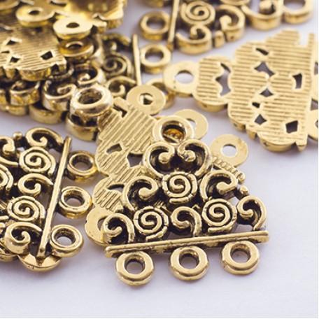 Коннектор металл арт. МБ.УТ28218 цв.ант.золото 18х17 мм 20шт.