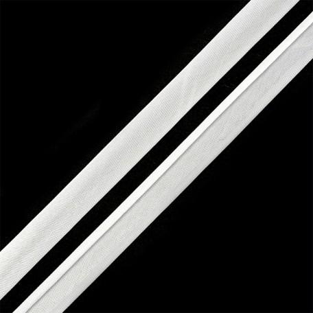 Косая бейка,атлас.15мм арт.КБ.15.101 цв.6341 (101) белый