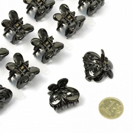 Краб для волос арт.MS.AV.K.BT372 размер 2х2 см цв. черный уп.12 шт