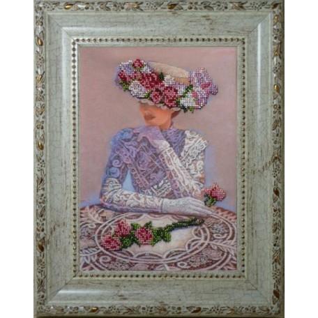 Набор для вышивания бисером 'КРАСА И ТВОРЧЕСТВО' арт.10210 'Волнение' 25,4х17,8 см