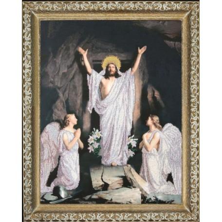 Набор для вышивания бисером 'КРАСА И ТВОРЧЕСТВО' арт.10211 'Воскресение Господне' 59х44,5 см