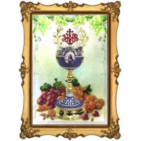 Набор для вышивания бисером 'КРАСА И ТВОРЧЕСТВО' арт.10212 'Пасхальная чаша 1' 20x30 см