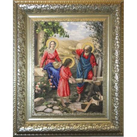Набор для вышивания бисером 'КРАСА И ТВОРЧЕСТВО' арт.10411 'Святое семейство' 35,5х47,5 см
