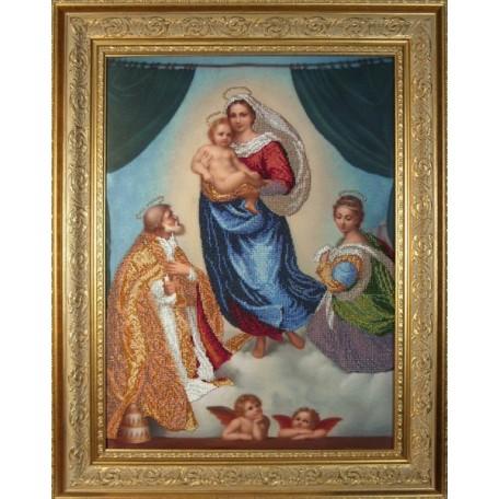 Набор для вышивания бисером 'КРАСА И ТВОРЧЕСТВО' арт.10610 'Сикстинская Мадонна' 61х46 см
