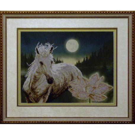Набор для вышивания бисером 'КРАСА И ТВОРЧЕСТВО' арт.10709 'Лунная соната' 29х37,3 см