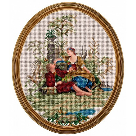 Набор для вышивания бисером 'КРАСА И ТВОРЧЕСТВО' арт.10714 Летний день 25х31,6 см