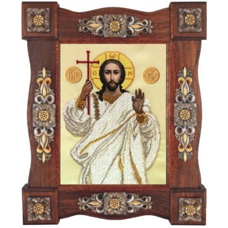 Набор для вышивания бисером 'КРАСА И ТВОРЧЕСТВО' арт.11011 'Господь Вседержитель' 24,4х33 см