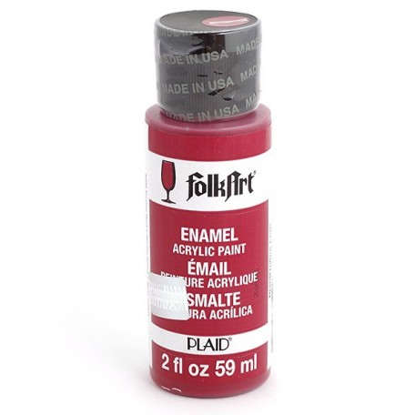 PLD-04006 Эмалевая акрил.краска FolkArt Enamels ярко красный, 59 мл