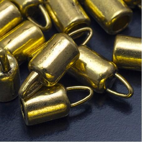 Концевики Для Шнура арт. МБ.УТ16963 цв.ант.золото 14х6,5 мм 10шт.
