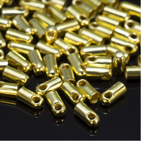 Концевики Для Шнура арт. МБ.УТ18557 цв.золото 4х1,8 мм 50шт