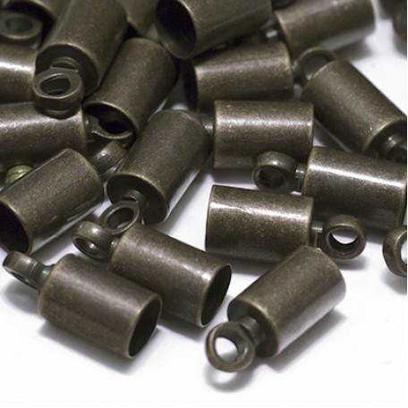 Концевики Для Шнура арт. МБ.УТ18553 цв.бронза 9,5х4 мм 20шт.