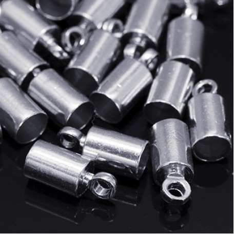 Концевики Для Шнура арт. МБ.УТ18554 цв.платина 9,5х4 мм 20шт.