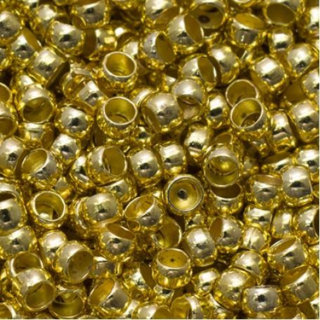 Бусины Зажимные Стопперы арт. МБ.БА582 цв.золото 2х1,2 мм 5г/около 400 шт.