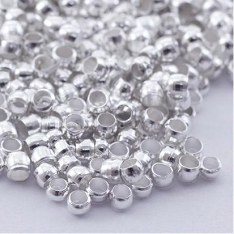 Бусины Зажимные Стопперы арт. МБ.БА590 цв.серебро 2х1,2 мм 5г/около 400 шт.
