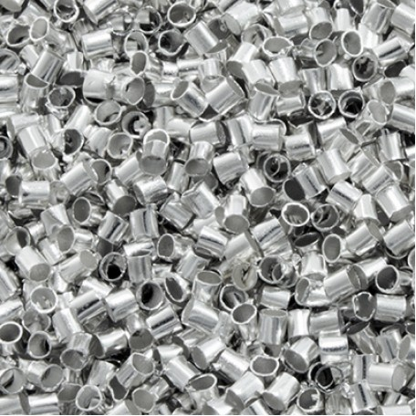 Бусины Зажимные Стопперы арт. МБ.УТ18562 цв.серебро 2х2 мм 5г/около 480 шт.