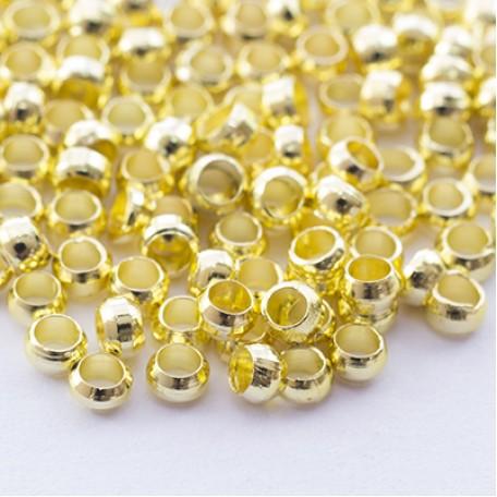 Бусины Зажимные Стопперы арт. МБ.УТ27856 цв.золото диам. 2,5х1,2 мм 5г/около 230 шт.
