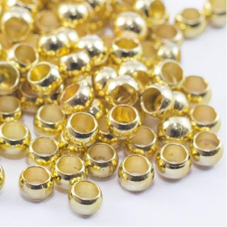 Бусины Зажимные Стопперы арт. МБ.УТ27862 цв.золото 1х3 мм 5г/около 140 шт.