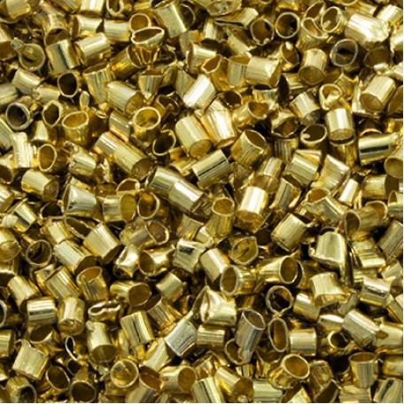 Бусины Зажимные Стопперы арт. МБ.УТ29475 цв.золото 2х2 мм 5г/около 480 шт.