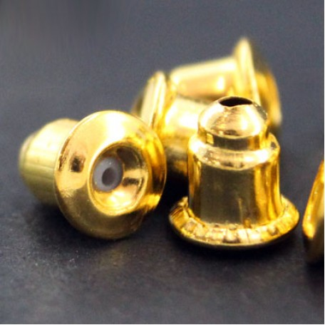 Заглушки металл арт. МБ.УТ7616 цв.золото 6х5 мм 100шт.